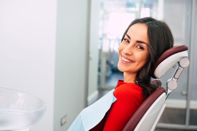 Patient smiling in treatment chair